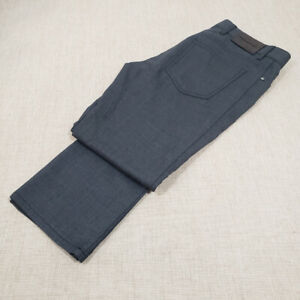 Current-ERMENEGILDO-ZEGNA-Gray-5-Pocket-Wool-Jeans-W-32-L-29