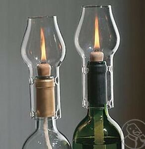 Image Is Loading Wine Bottle Oil Lamp Kit Clear Twin Pack