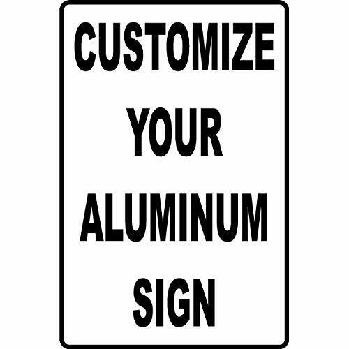 Metal Sign Custom Aluminum Sign Personalized Your Logo /& Text Free Design