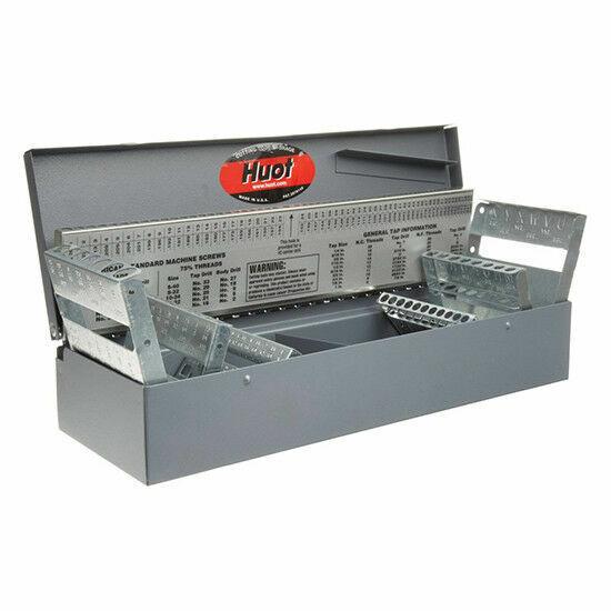 Steel Index Case Drill Jobber Bits Holder Organizer Storage Standard Dispenser