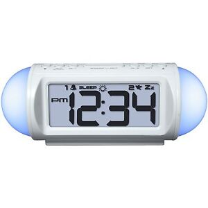 31112 Equity By La Crosse Mood Light Alarm Clock With