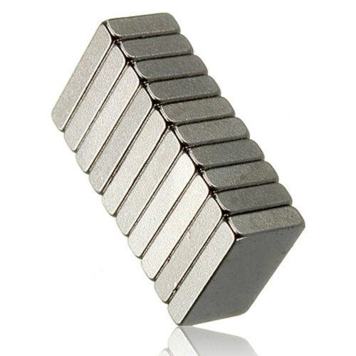10pcs 20mm x 12mm x 5mm Very Strong DIY Project Neo Thick Neodymium Block Magnet