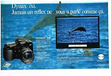 Publicité Advertising 1991 (2 pages) Appareil Photo Dynax 7xi