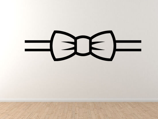 Bow Tie  2 - Fancy Dress Kunst Icon Clothing Silhouette - Vinyl Wand Decal Kunst