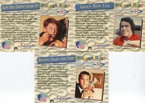TV/'s Coolest Classics Smell-O-Rama Insert Chase Card Complete Set ~ S1 S2 S3