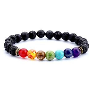7-Chakra-Healing-Balance-Beaded-Bracelet-Lava-Yoga-Reiki-Prayer-Stone-Gifts
