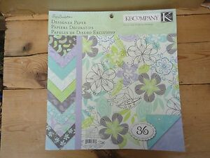 K Company Scrapbook Poppy Seed Designer Paper Double Sided 12x12