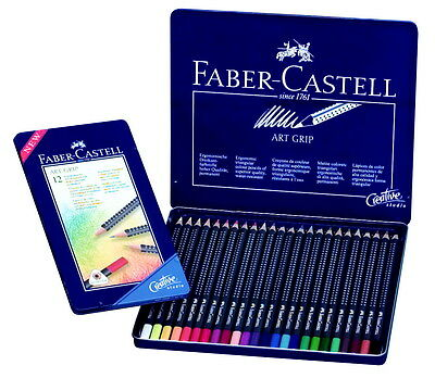 Faber-Castell Art Grip Acid-Free Non-Toxic Pre-Sharpened Colored Pencil Set, ...