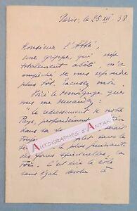 L-A-S-1938-General-Maxime-WEYGAND-gt-Abbe-Bourdon-Rouen-Lettre-autographe-LAS