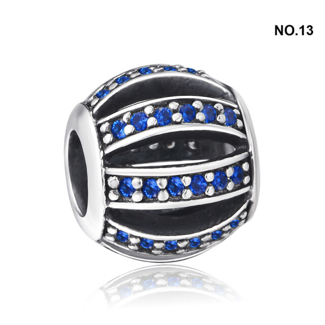 New Pave crytal European 925 sterling solid silver charm bead for bracelet chain