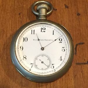 Details about Antique Elgin National Watch Co. Pocket Watch w Silveroid Case c. 1887