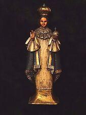 Catholic Vintage Spanish Wood folk art Holy Santos of the Infant Jesus Statue