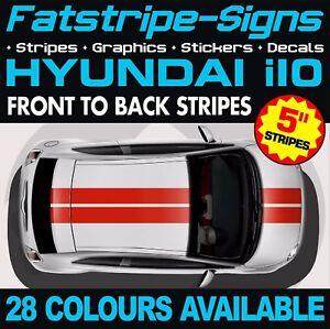 HYUNDAI i10 STRIPES GRAPHICS DECALS STICKERS CAR VINYL 1.0 1.1 1.2 ...