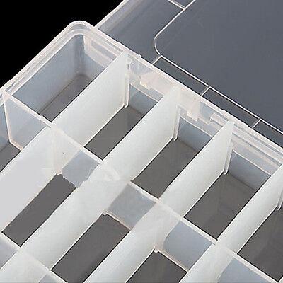 24 Compartment Jewelry Earring Bin CASE BOX Plastic Storage Box HOT