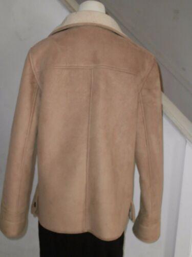 Talbots Mw finta S primavera Country scamosciata beige chiaro leggera pelle Jacket pelle Rx1TRqp