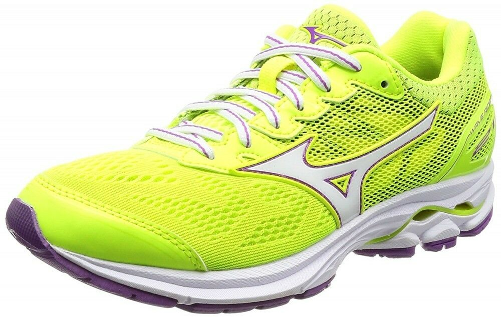 Mizuno Running shoes WAVE RIDER 21 Donna J1GD1803 Yellow × White × Purple F/S