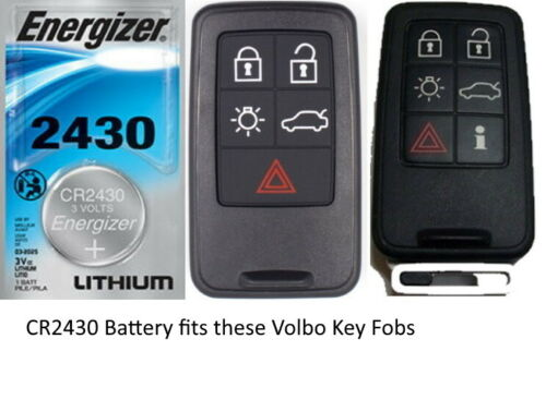 SMART KEY FOB Battery Replacement Energizer CR2430 for VOLVO Keyless Keyfob