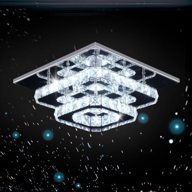 Saint Mossi Modern Crystal Raindrop Chandelier Lighting Flush Mount Led Ceiling For Sale Online Ebay