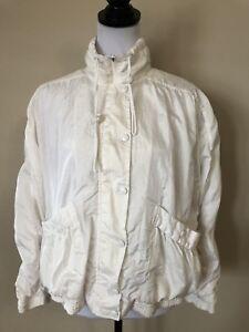 24097a1376 Image is loading Vintage-Women-s-Windbreaker-Jacket-Size-Small-Brand-
