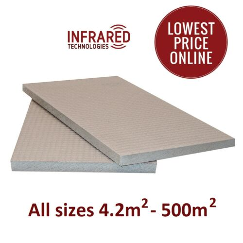Tile Backer Board Isolation Chauffage au sol pièces humides Ciment Coated 6 /& 10 mm