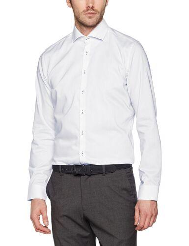 Seidensticker Herren Langarm Hemd SLIM Stretch Spread Kent Patch3 weiß 676236.01