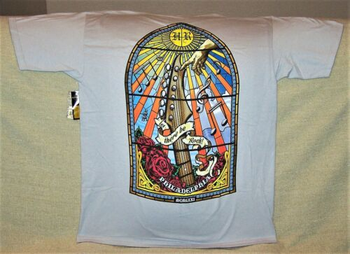 HARD ROCK CAFE PHILADELPHIA STAINED GLASS T-SHIRT SIZE ADULT LARGE NEW W/ TAGS
