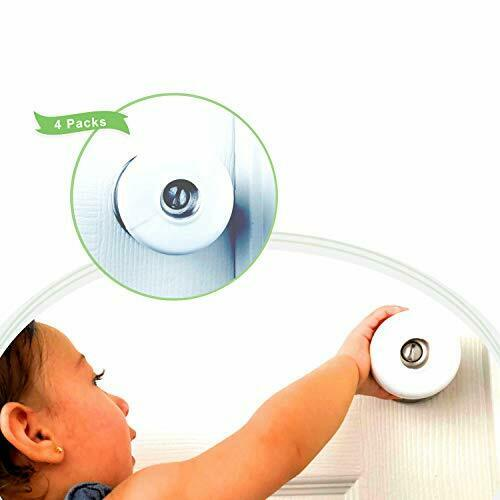 Baby Safety Door Knob Cover Babyproof 4 Pack Door Handle Security Lock for Lever