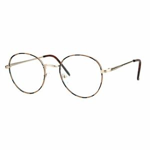 e11c9436b1c Image is loading Unisex-Clear-Lens-Glasses-Vintage-Fashion-Round-Oval-