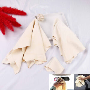 1X-car-natural-chamois-leather-car-cleaning-cloth-washing-absorbent-dry-towelBEC