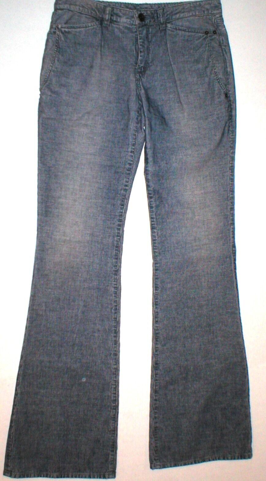 Nouve295 Theyskens& 039;s Theory Velours Côtelé Pantalon Jeans Femme 25 flare Blau indigo Cordon