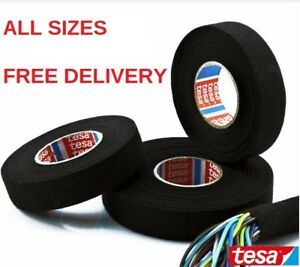 TESA-TAPE-51608-ADHESIVE-CLOTH-FABRIC-WIRING-LOOM-HARNESS-25mm-19mm-15mm-9mm