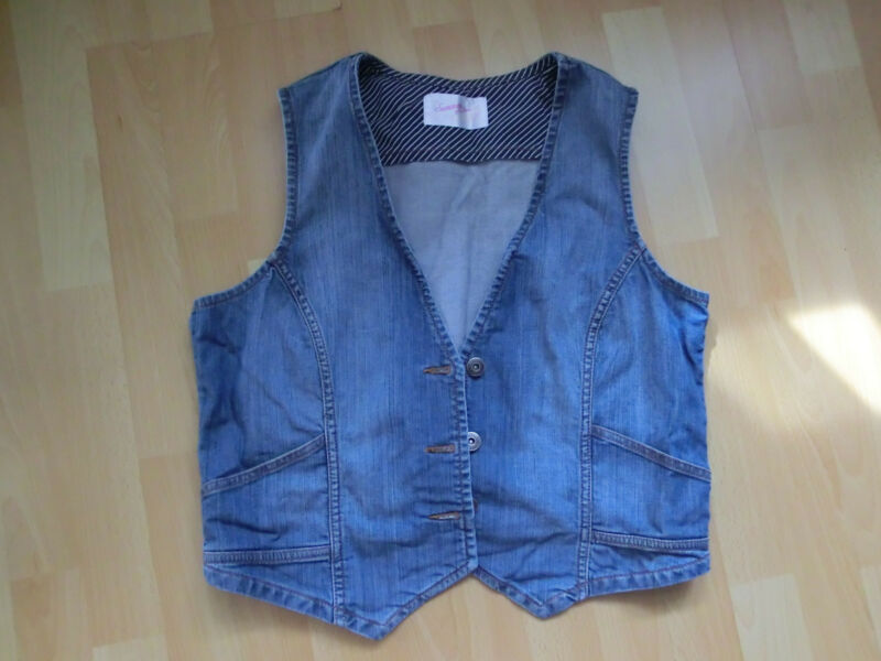 **jeansweste** Sommer Of Love** Ideal Zum Sommerkleid **nw** Gr:42 **top**