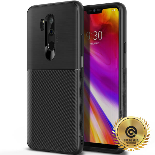 new product d8eab c9614 OBLIQ LG G7 ThinQ Flex Pro Black TPU Shockproof Drop Protective Case Cover