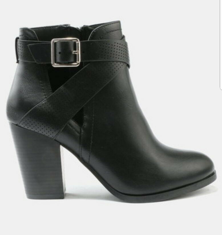 CALL IT SPRING UNORELLAN ANKLE BOOTS BLACK SIZE UK 5