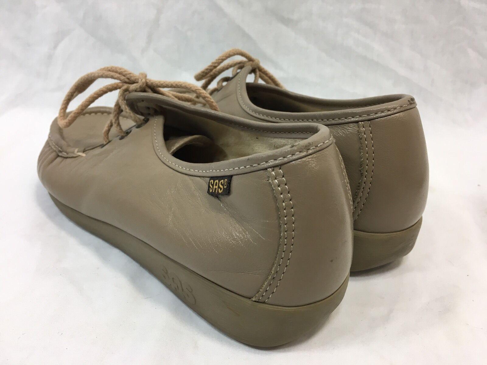 SAS Comodidad Zapatos Oxford Informales de Cuero para Mujer 8 UU. Cosida a Mano EE. UU. 8 con Cordones Beige b7d407