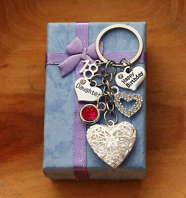 Personalised Birthday Gift keyring for mum Daughter Sister18th 21st30th40th50th
