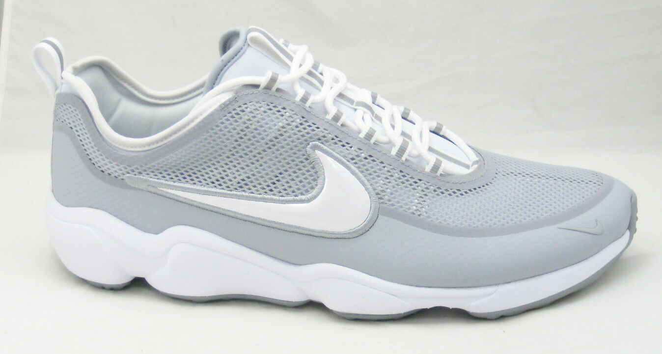 NIKE AIR ZOOM SPIRIDON ULTRA WHITE WOLF GREY SNEAKERS SZ 15 [876267-100] REFLECT