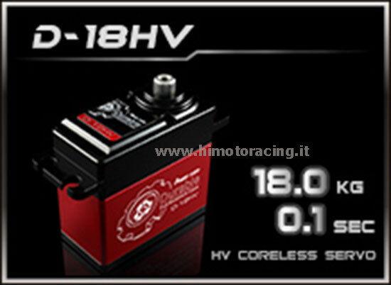 SERVO COMANDO DIGITALE POWER HD 18.0 Kg HIGH VOLTAGE INGRANAGGI TITANIO D-18HV