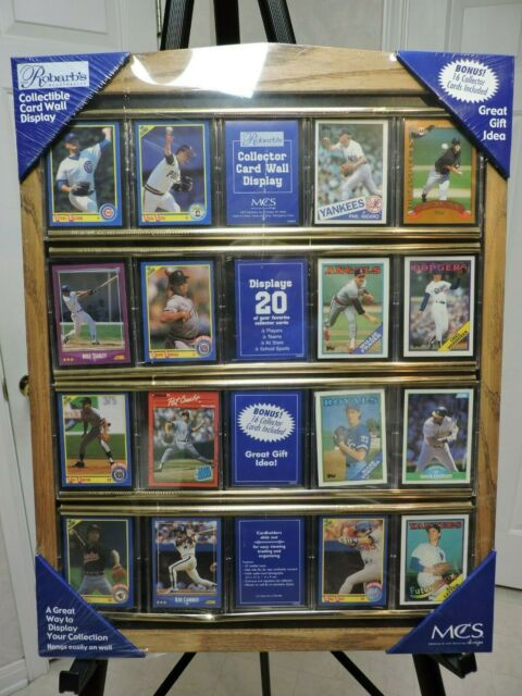 Sports Card Display Case Baseball Trading Cards Collection Wall Hang Photo Frame For Sale Online Ebay