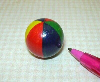 "Dollhouse Miniature 1:12 Toy Plastic Football Basket Ball Diameter 3//5/"" SPO718"