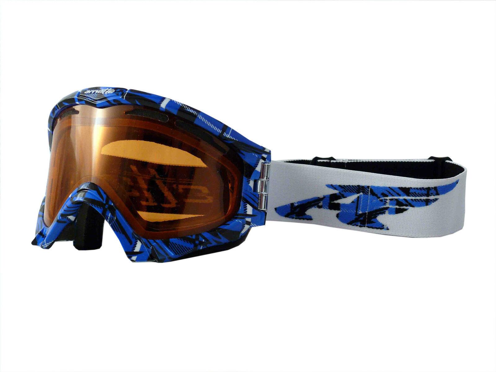 ARNETTE SERIES 3 SNOW GOGGLES AN5001 blueE PLAID FRAME PERSIMMON LENS NEW