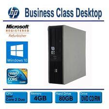 HP Desktop Computer PC, Windows 10, Dual Core 3.0GHz, 4GB, 80GB HDD, DVD/CD RW