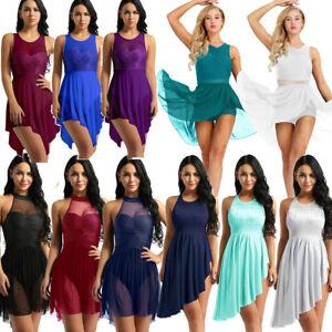 Women-Adult-Lyrical-Dress-Contemporary-Ballet-Dance-Leotard-Gymnastics-Costume