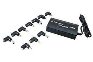 ALIMENTATORE-UNIVERSALE-150W-PC-LAPTOP-USB-CASA-NOTEBOOK-10-ADATTATORI