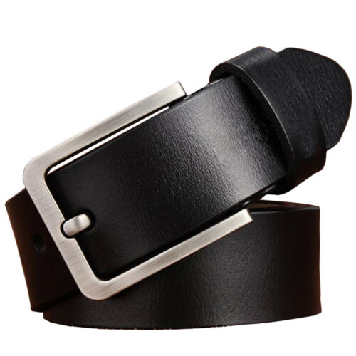 """Mens Belt Genuine Leather Belts For Dress /& Jeans Big /& Tall Wasit Size 28/""""-64/"""""""