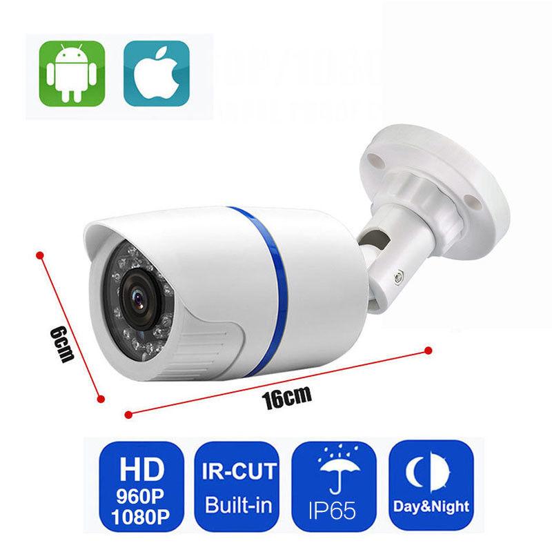 H.264 IP Camera HD 1080P 720P Onvif Outdoor IR Security Cam Waterproof IP XMEYE