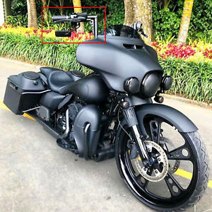 Details About Black Motorcycle Cruiser Wing Mirrors For 2019 Harley Davidson Street Glide Flhx