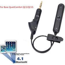 Bluetooth4.1 Empfänger Adapterkabel für QuietComfort QC15 Bose Kopfhörer Schwarz