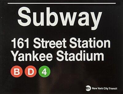 "TIN SIGN /"" New York Subway"" YankeeStadium Deco Garage Wall Decor Yankees  Gift"