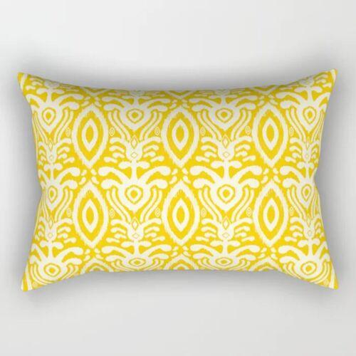 Nordic Yellow Geometric Short Plush Sofa Pillowcase Cushion Cover Home Decor